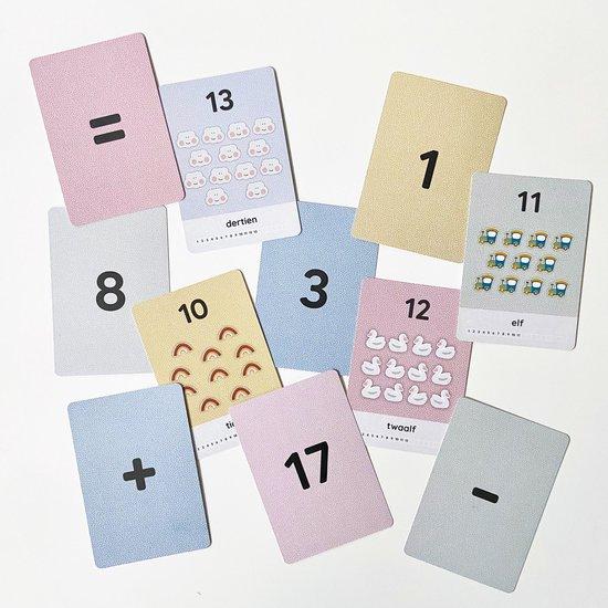 Mijn cijferkaarten - 1 t/m 20 - speel- en leerkaarten - cijfers en tellen