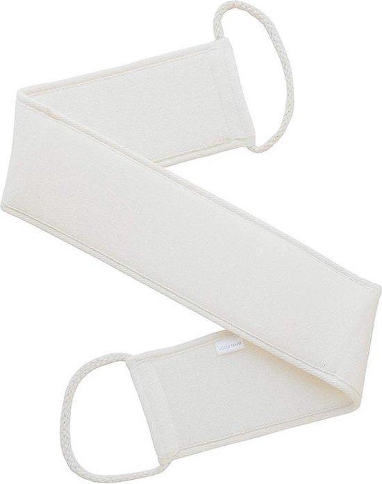 Loofah baddoek - Lichaamsborstel - Badspons - Scrubmassage - Rug - Beige - Schrubriem - Badborstel - Spons -handschoen - Massage handdoeken - 70 cm - Wit