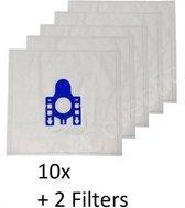 AA Commerce - Stofzuigerzakken - Geschikt voor Miele Complete C3 Black Diamond (EcoLine) - 10 stuks + 2 filters