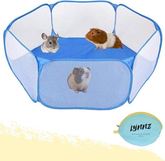 Lynnz® Opvouwbare knaagdieren ren voor buiten en binnen 120 cm | knaagdierenren - kooi - cavia - caviakooi - opvouwbaar - knaagdier