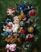 Schilderen op Nummer Volwassenen   Bloemen in Vaas   Paint by Number Volwassenen   Natuur   Planten   Kunst   Hobby   Creatief   Verven op Nummer