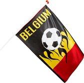 België Vlag - 150 x 90 cm - Belgium Zwart/Geel/Rood