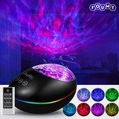 Foumt LuckyStone Sterren Projector - Galaxy projector - Nachtlamp - Muziek box bluetooth - Zwart