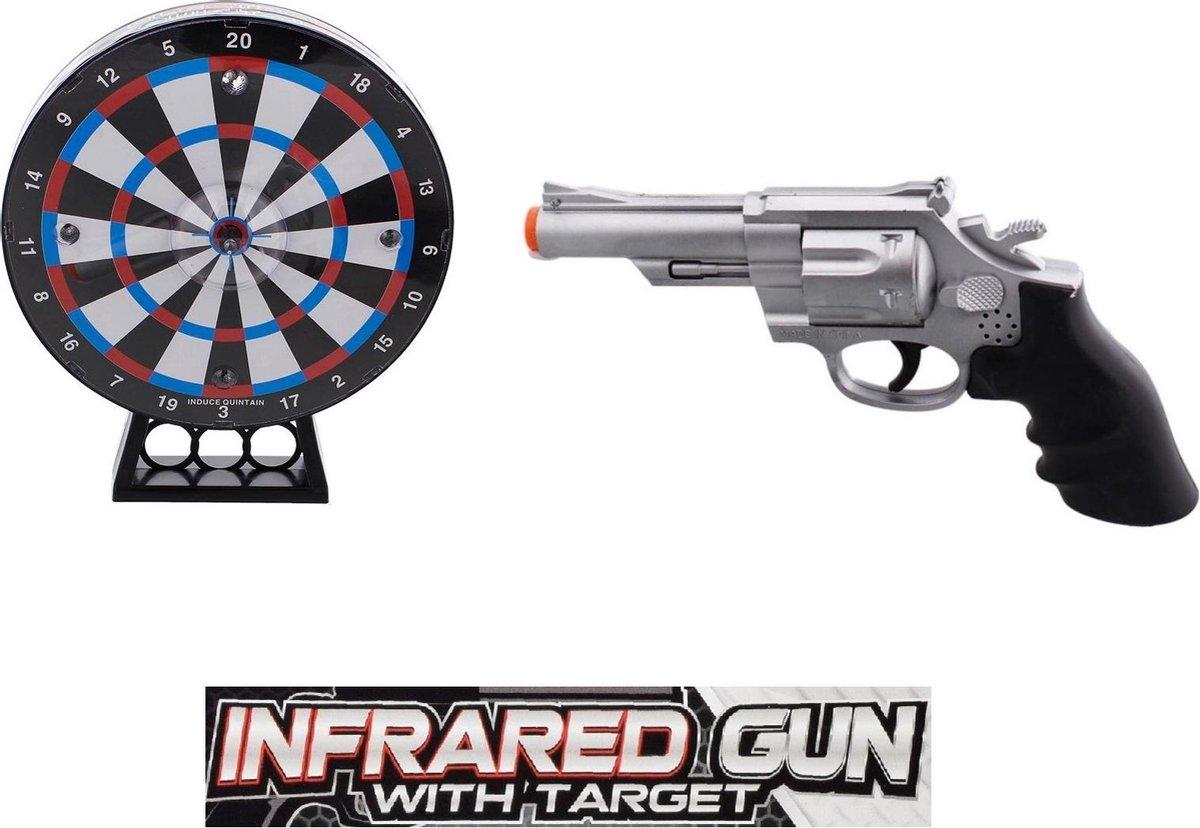 Darten - laser-dartbord - Laserpistool - Met Licht en Geluid - Infrarood - Infrared - Laser darten