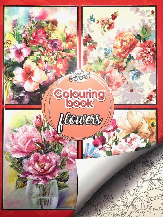 Afbeelding van Kleurboek Voor Volwassenen Bloemen