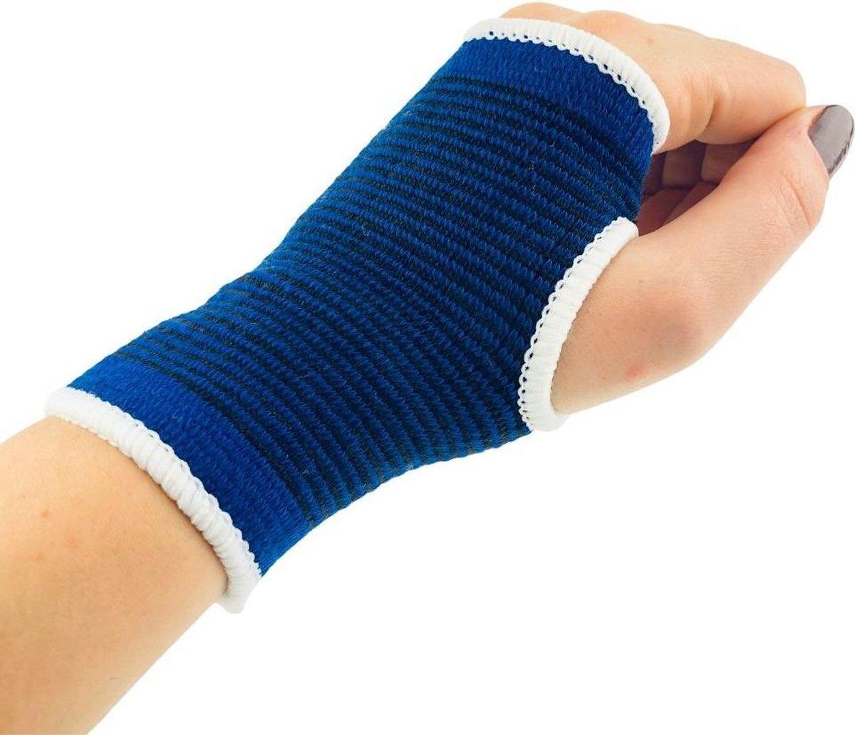 Orange85 Pols brace - 2 Stuks - Rechts en link - Blauw - Bandage - Blessure - Bracelet - Handbescher