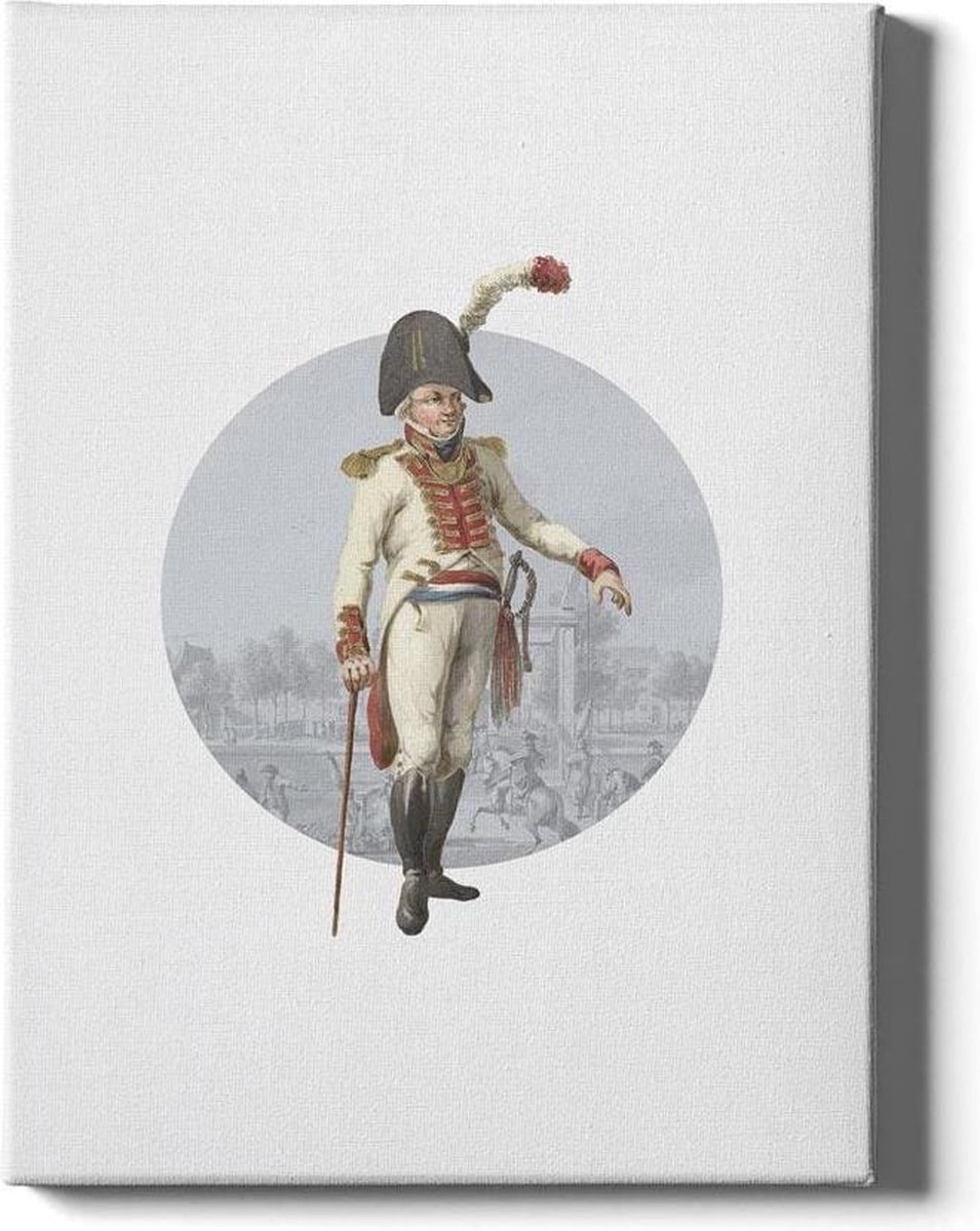 Batavian Officer - Walljar - Wanddecoratie - Schilderij - Plexiglas