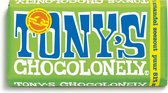 Tony's Chocolonely Puur Amandel Zeezout Chocolade Reep - 180 gram