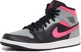 Nike Air Jordan 1 Mid - Zwart/Roze - Maat 41
