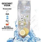 DOP DOP Transparante Drinkfles - Melkfles - Waterfles - drinkflessen - drinkflessen volwassenen
