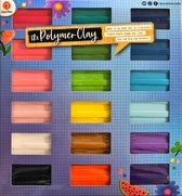 Fimoklei | Set van 18 kleuren | Polymeer afbakklei | Boetseerklei