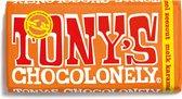 Tony's Chocolonely Melk Karamel Zeezout Chocolade Reep - 180 gram