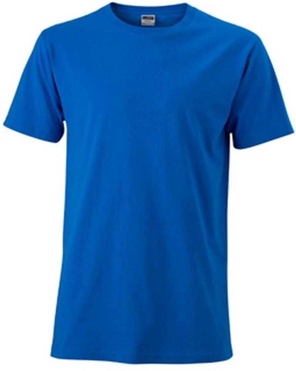 James and Nicholson Heren Slim Fit T-Shirt (Kobaltblauw)