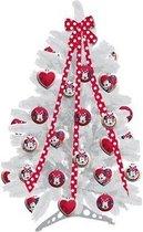 Disney kerstboom Mini Mouse 60 cm - 10 ballen en 1 lint plus staander - Kerstboom met versiering