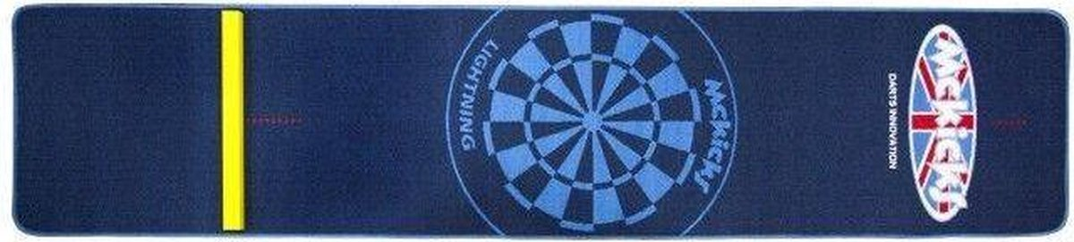 McKicks Carpet Dartmat Blue + Oche 300 x 65 cm