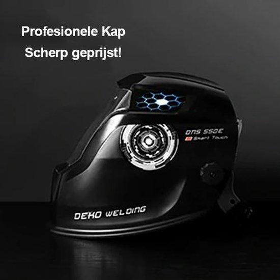 DEKO® Laskap Professioneel - Automatisch - DIN 16-10 Ultraviolet 10 - lasmasker - Laskap - Lashelm - automatisch dimmende lichtfilter - Zwart