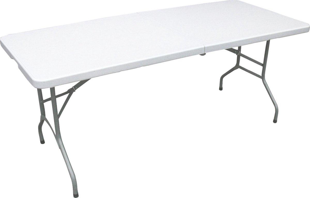 ERRO Campingtafel - Vouwtafel - 180x74x72 cm - Wit  - Voor 8 personen