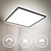 B.K.Licht - LED Paneel - plafondlamp - plafoniere - zwart - l: 42cm - 4.000K - 3.000 lumen - 22W LED