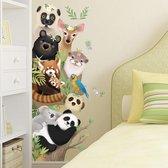 Muursticker | Dieren | Verticaal | Wanddecoratie | Muurdecoratie | Slaapkamer | Kinderkamer | Babykamer | Jongen | Meisje | Decoratie Sticker - Multicolor