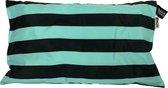 Kussenhoes Stripe Turquoise   Outdoor   Waterbestendig   30x50 cm   Oxford Polyester   Turquoise   Maison Boho