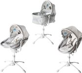 Rudolphy - 3 in 1 electrische babywiegje - Co sleeper babybed en babystoel in 1 - wipstoel en schommelstoel