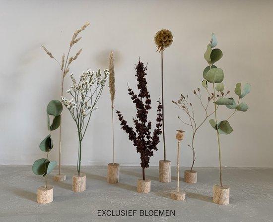 Bol Com Droogbloemen Houder Hout Diy Bloemen Woonaccessoires Decoratie Houten Standaard