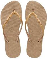 Havaianas Slim Flatform Dames Slippers - Rose Gold - Maat 37/38