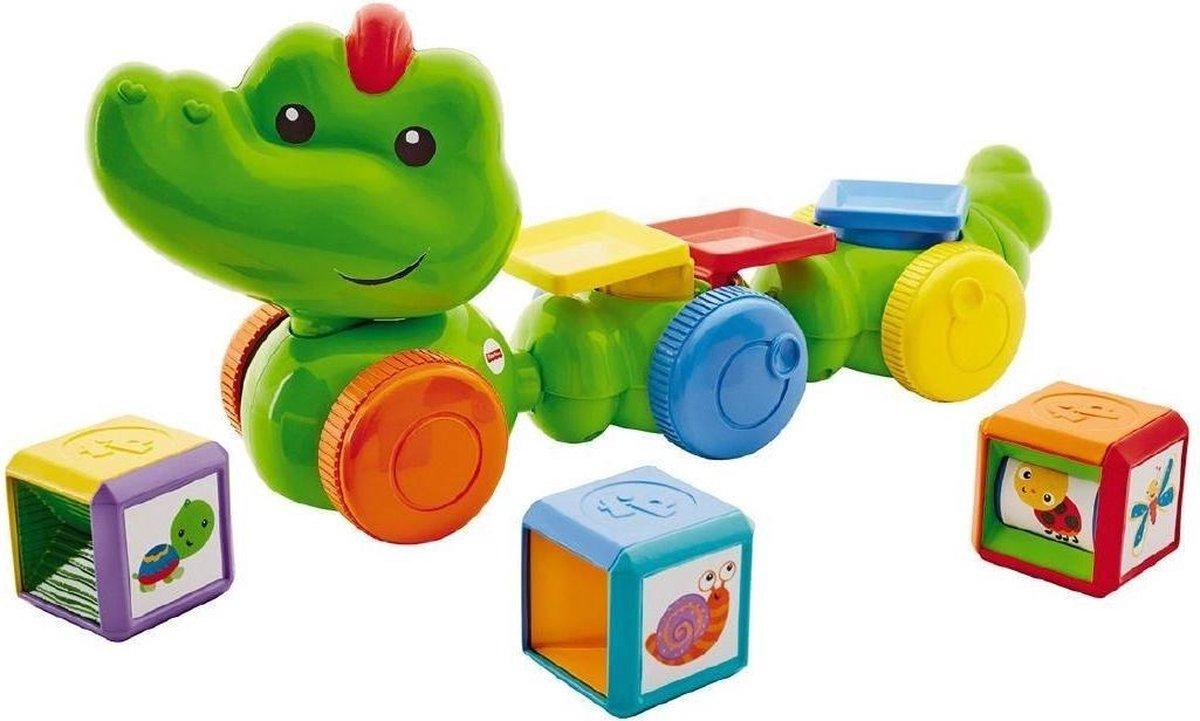 Fisher Price activityspeelgoed Krokodil junior groen 4 delig