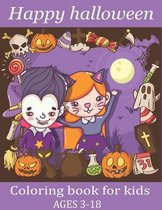 happy halloween coloring book for kids ages 3-8