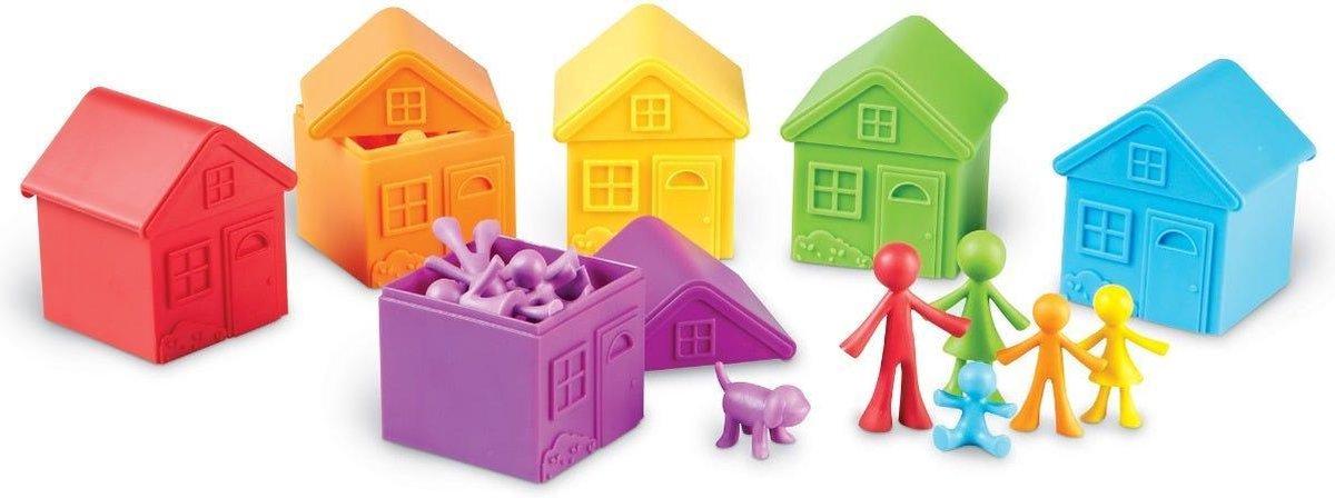 Familie Figuren: Sorteerset met huisjes