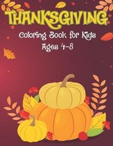 Thanksgiving Coloring Book for Kids Age 4-8