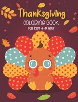Thanksgiving coloring book for kids 4-8 ages: Thanksgiving Coloring Book