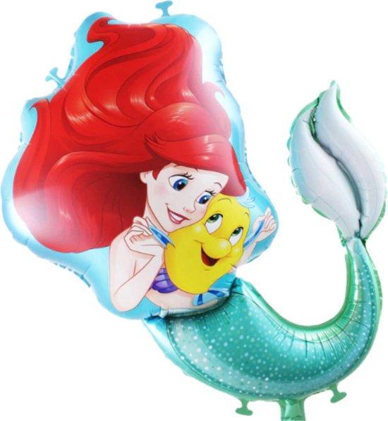 Ariel Ballon - Disney - De Kleine Zeemeermin - Disney Princess - The Little Mermaid - 80 x 65 cm - Ballon Groot - Ballon Film