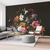 Stilleven met bloemen op vaas  Jan Davidsz de Heem - Oude Meester - Boeket - Vlinder  - Fotobehang Vlies 384 x 260 cm