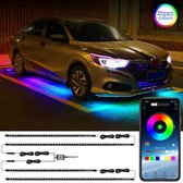 HBKS Auto LED Verlichting - Led Strips Exterieur - Auto Accessories Interieur - LED Strip - Mobiele APP - Sfeerverlichting - 12V