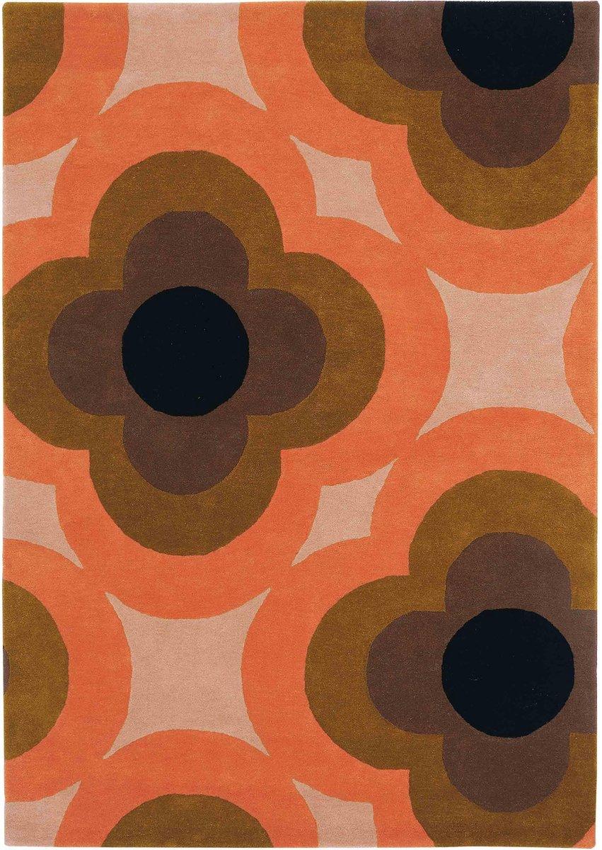 Orla Kiely - Pulse Pink 60305 Vloerkleed - 200x280 cm - Rechthoekig - Laagpolig Tapijt - Retro, Scandinavisch - Meerkleurig