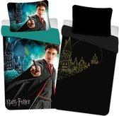 Harry Potter - Dekbedovertrek Lightning in the Dark 140 x 200 kussenloop 70 x 90 cm