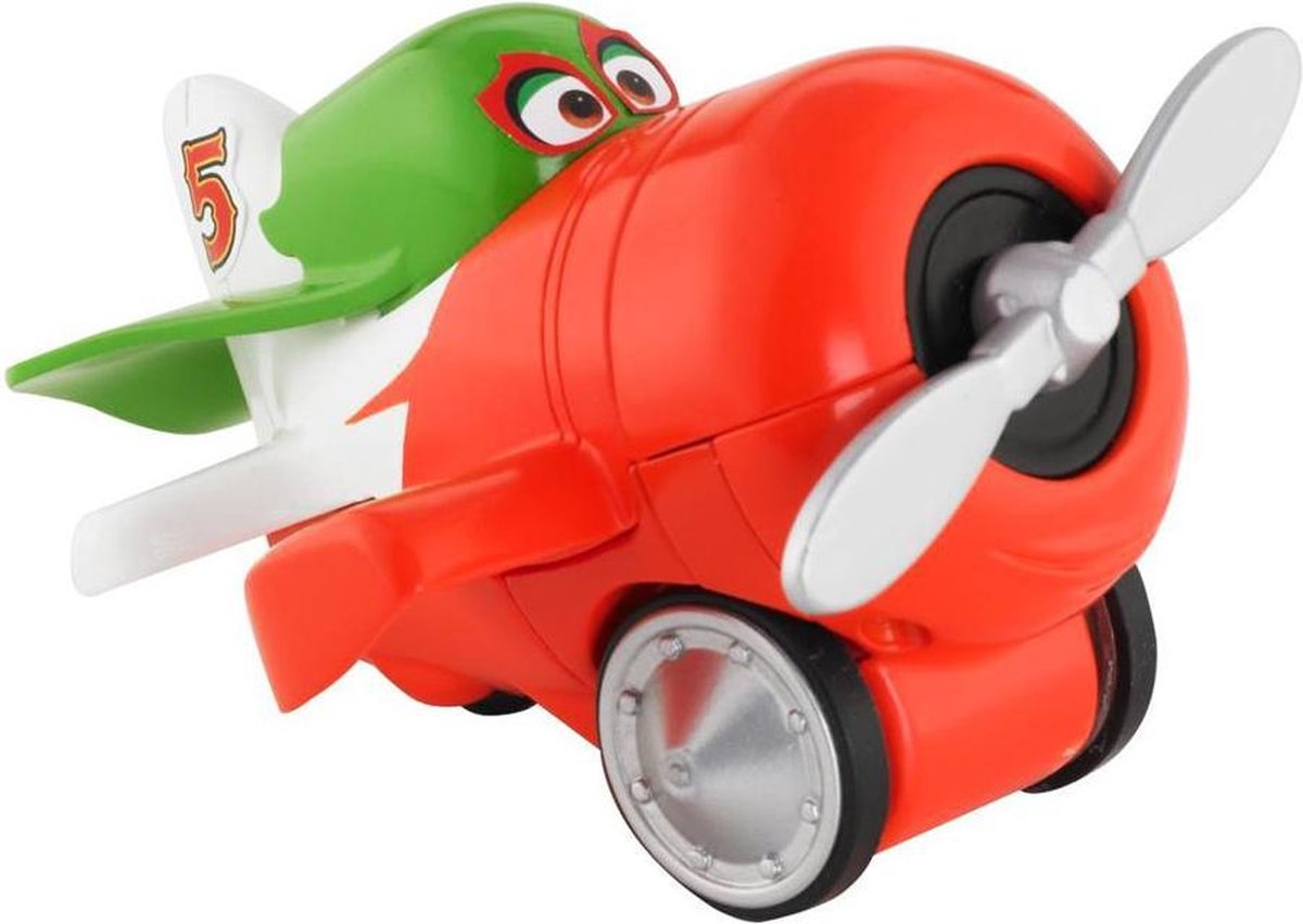Fisher-Price Disney Rollers Cars - Planes - Rood / Wit / Groen - 7 x 9 cm