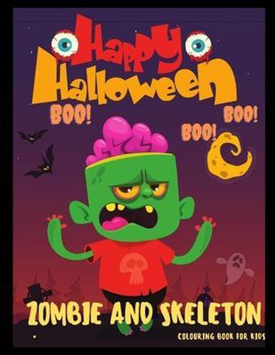 Zombie AND Skeleton Colouring Book For kids