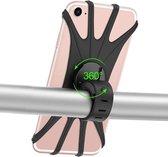 Mobiele Telefoon Houder voor op je Fiets | Geschikt voor elk toestel | Houder Telefoon | Extra Stevig | Smartphone houder | Stuur houder | 360 graden draaibaar | Motor | Racefiets | Zwart