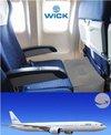 Wick Wings -  Wick Air Vliegtuigbedje - Reiskussen - Voetensteun
