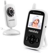 HelloBaby HB24 Babyfoon met camera - Video babyphone - Nachtzicht - Terugspreekfunctie - Temperatuurcontrole - Slaapliedjes - Zoomfunctie