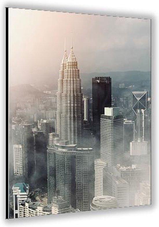 Bol Com Dibond Stad 40x60cm Foto Op Dibond Aluminium Wanddecoratie Van Metaal