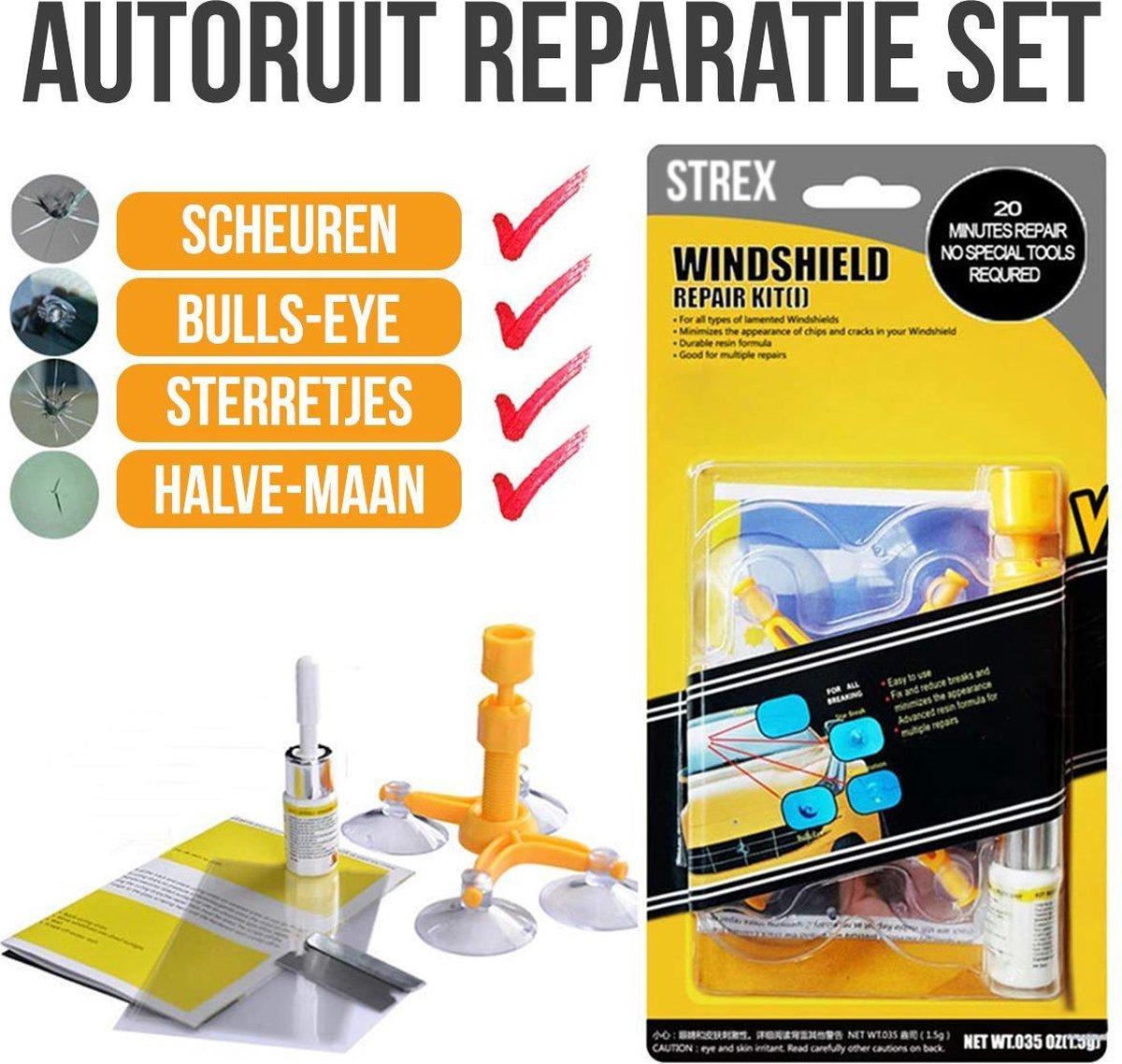 Autoruit reparatie set | Zelf Je Autoruit Repareren | Barst In Ruit Maken | Sterretje In Ruit Repare
