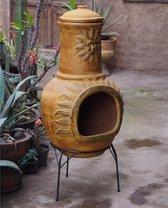 Sol-y-Yo Chimenea Mexicaanse Tuinhaard - 105 cm - Geel - Met zon
