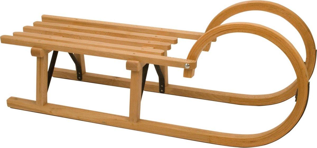 Nijdam Slede Hout - Rodel 95 cm - Blank - 95