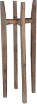 Mica Decorations ascot plantstandaard hout lichtbruin maat in cm: 33 x 33 x 89