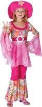 Roze hippie outfit voor meisjes 128 - 6-8 jr