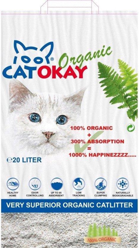 CatOkay Organic - Kattenbakvulling