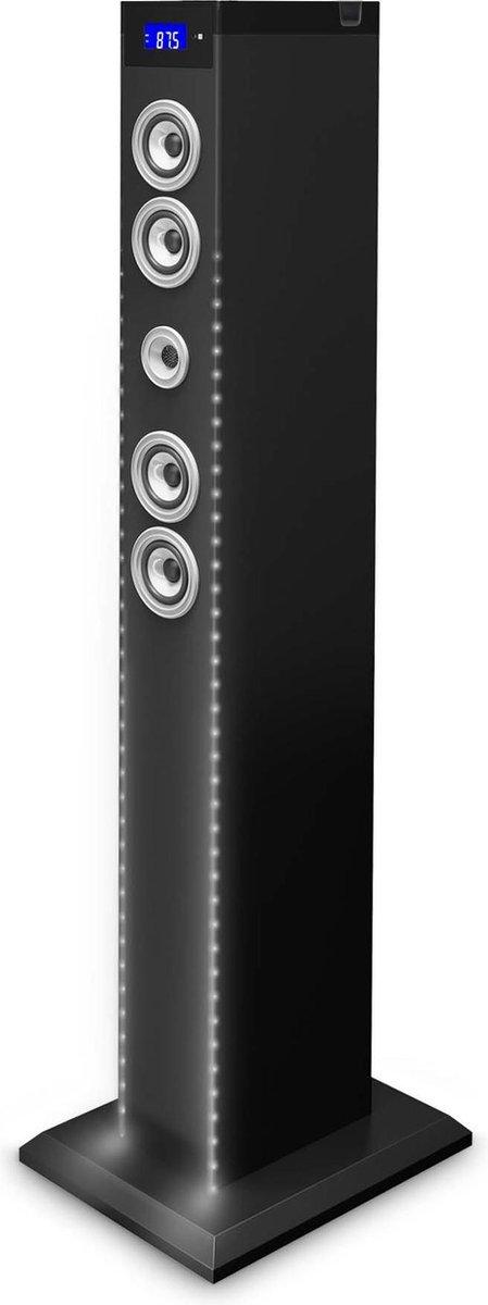 Bigben Multimedia Speaker Toren - Bluetooth/Radio/USB/SD - Zwart/LED